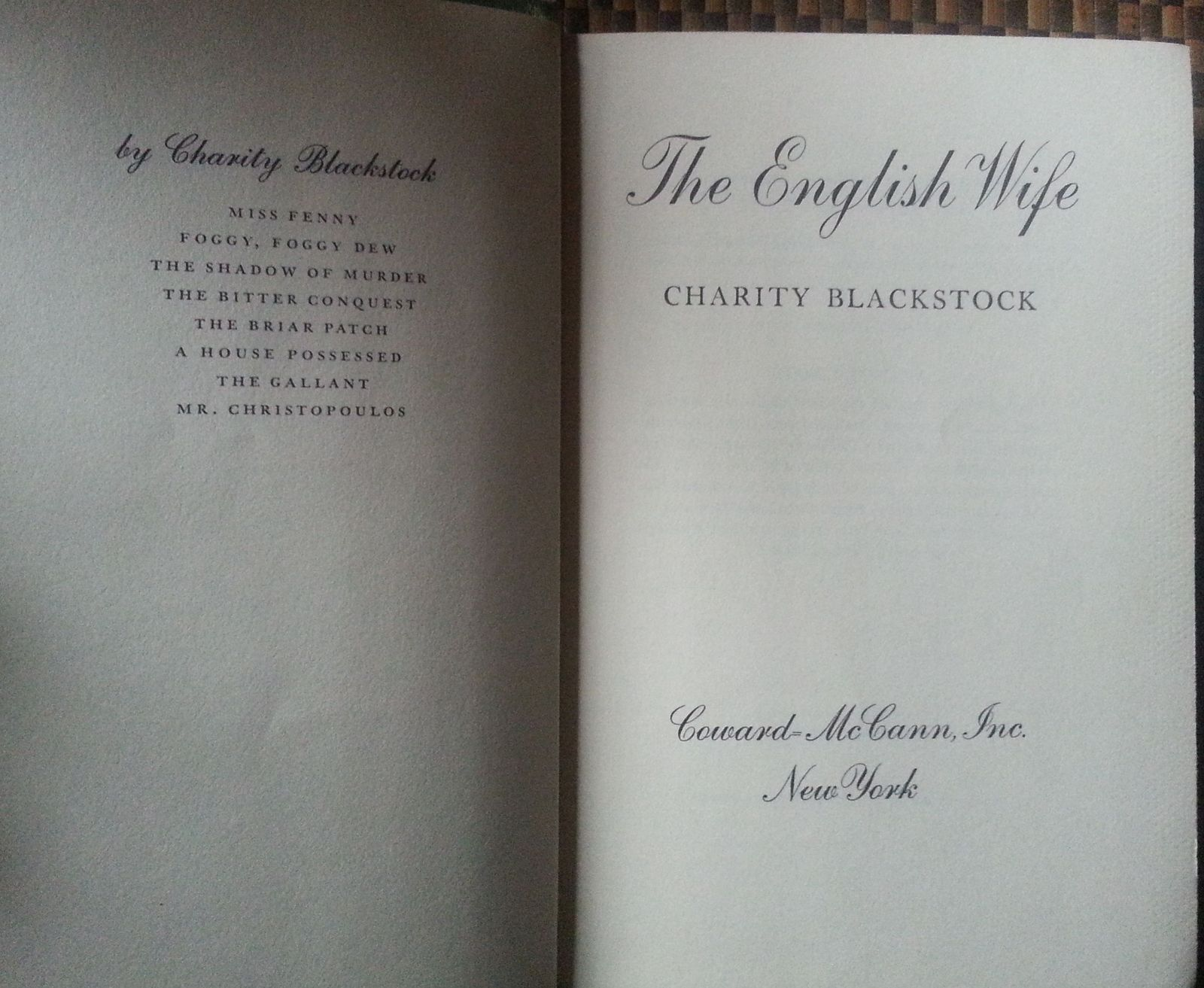 The English Wife by Charity Blackstock 1964 HBDJ Scottish Moors