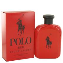 Polo Red by Ralph Lauren Eau De Toilette Spray 4.2 oz for Men #501189 - $72.68