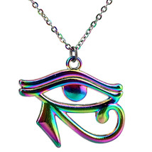 "20"" Rainbow Color Egyptian Eye of Horus Ra Amulet Pendant Charms Necklac... - $9.49"