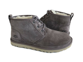 UGG WOMEN NEUMEL STORMY GRAY GREY SHEARLING SUEDE SHOE US 7 / EU 38 / UK 5 - $135.58