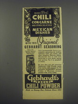 1946 Gebhardt's Eagle Chili Powder Advertisement - Make real chili con carne - $14.99