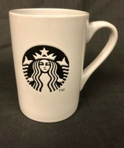 Starbucks Ceramic Mug Coffee Tea Beverage White Black Siren Mermaid Logo... - $9.41