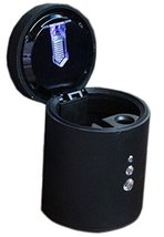 PANDA SUPERSTORE Portable Stainless Auto Car Cigarette Ashtray LED Extinguishing
