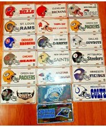 Lot Of 19 FOOTBALL NFL metal License Plates All Different New sealed - $217.79