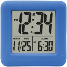 Equity by La Crosse 70905 Soft Cube LCD Alarm Clock (Blue) - $39.66