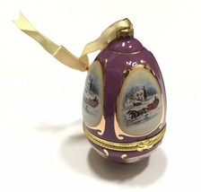 Mr Christmas Musical Egg Ornament Purple Holiday Decoration Valerie Parr Hill - $10.40