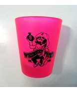 Vintage Frosted Hot Pink Whiskey Pete's Hotel Casino Shot Glass by Libbey - $12.99
