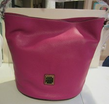 Dooney & Bourke Pebble Grain Thea Feed Bag magenta NWT - $228.00