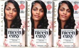 3 Boxes Clairol Nice N Easy Color Care Formula 2V Plum Black Permanent Hair Dye - $25.99