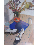 RARE Original & Signed Galya Pillin Tarmu Large Still Life Pastel Art Pa... - $5,499.00
