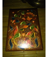 Wooden Stash Box Colorful Painting - $20.00