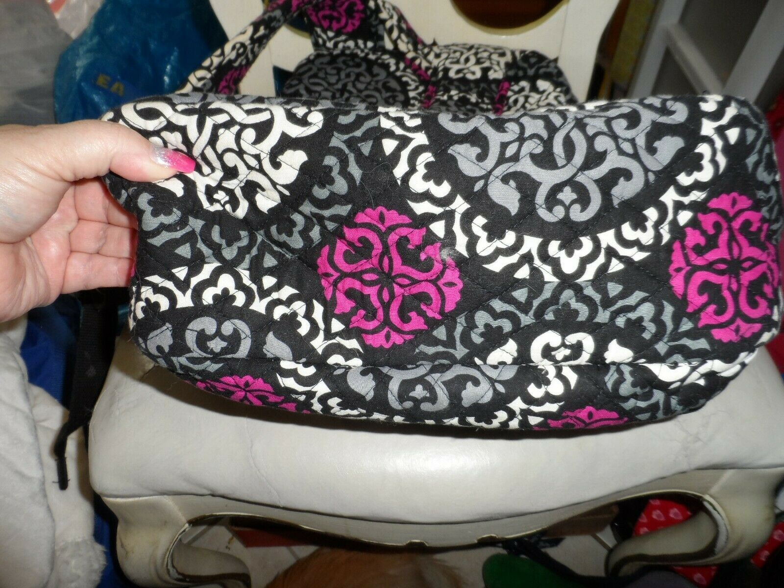 Vera Bradley Backpack baby bag in Canterberry Magenta image 3