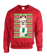 Adult Sweatshirt Nerd Llama Ugly Christmas Fun Cute Animal Fans Gift - $26.94+