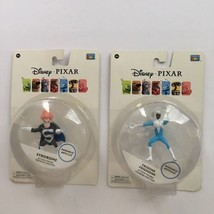 Disney Pixar Frozone Syndone Poseable Action Figures Lot of 2 Thinkway T... - $29.95