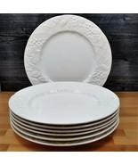 "Mikasa English Countryside Set of 7 Dinner Plates White DP 900 11"" (28cm) - $71.24"