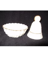 Lot of 2 Pieces Lenox China, Bell and Trinket or Nut Dish, Perfect condi... - $19.75