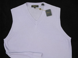 NEW! NWT! $175 Bobby Jones Collection 100% Cotton Vest! M  *Lavender* - $99.99