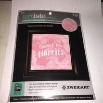 Zwiegart   NEW Counted Cross Stitch Kit  COUNT THE HAPPIES  Artiste Mini... - $5.68
