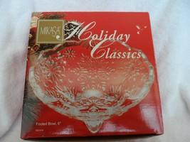 "Mikasa Holiday Classics 6"" crystal clear footed Bowl - $15.00"