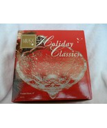 "Mikasa Holiday Classics 6"" crystal clear footed Bowl - $15.00"
