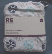 Target Brand RE Room Essentials Microfiber Sheet Set Full Winter Snowfla... - $35.00