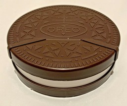 "OREO Plastic Container Shaped like a Large Cookie, Hinged Lid..4 1/2"" Di... - $8.86"