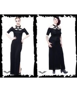 Women's Long Goth Dress Pentagram Occult Reg&Plus Sizes Witch Esoteric A... - $82.83