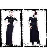 Women's Long Goth Dress Pentagram Occult Queen Of Darkness Reg&Plus Sizes - $86.83