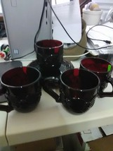 4 Sets of Imperial Cape Cod Red Cups and Saucers - $18.35