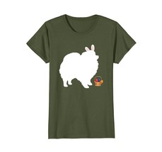 Pomeranian Easter Bunny Dog Silhouette T-Shirt Happy Easter - $19.99+