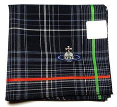 Vivienne Westwood Handkerchief scarf bandana Cotton Men Black Check ORB ... - $25.74