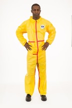 Chemical Splash Coverall Elastic Wrist & Ankle Taped Seams Yellow - Case... - $59.60+