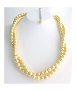 Bridesmaid Yellow Pearl Twisted Necklace, Affordable Price, Bridal Jewel... - $18.00