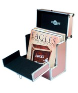 Vinyl record case flip front better access to your rose gold lp - $147.65
