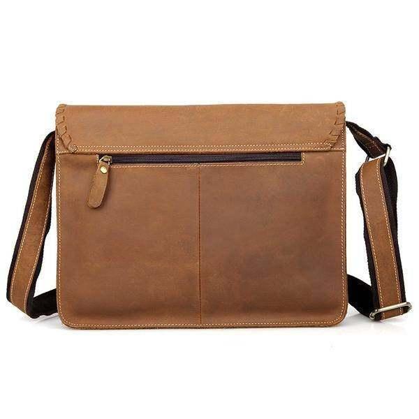 Sale, Vintage Messenger Bag, Leather Messenger Bag, Men's Fossil Messenger Bag image 4