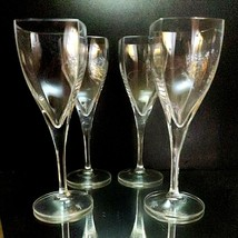 4 (Four) MIKASA PANACHE Lead Crystal Water Glasses Square Bowl DISCONTINUED - $56.99