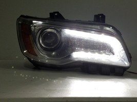 2011-2014 CHRYSLER 300 RH PASSENGER HEADLIGHT HALOGEN LED CHROME OEM - $359.99