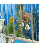 Parrots Mirror Toys Bird Cockatiel Mini Bells Hanging Swing Budgie Parak... - $6.47