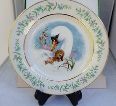 "Enoch Wedgwood England Gentle Moments 8 1/2"" plate gold rim vintage 1975... - $11.88"