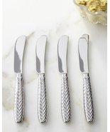 Ralph Lauren Equestrian Braid Stainless Spreaders / Butter Knives 4 - $41.00
