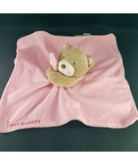 Magic Years I Love Mommy Lovey Security Blanket Plush Bear Pink Rattle 1... - $19.79