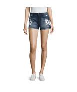 Rewash Floral Paint Fray Hem Shorts Juniors Sizes 0, 3, 5, 7, 11, 13, 17... - $16.99