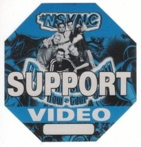 N SYNC n sync backstage Satin Cloth PASS tour collectible SUPPORT VIDEO - $11.38