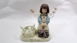 Angel of Love Crazy Mountain Exclusive Designs Wire Wings Candle Holder VGC - $23.76