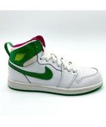 Nike Jordan 1 Retro High White Gamma Green Vivid Pink 705321 134 Kids Size 3 - $89.95