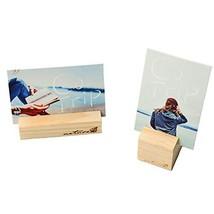 KAIGOTOQIGO 10 Pcs Wood Base Clip Holder DIY Table Name Number Card Hold... - $10.54