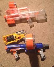 Bundle Nerf N-Strike Deploy CS-6 Clear Dart Blaster,Maverick Rev-6, Raid... - $80.00