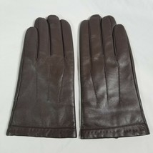 Downholme Men's Brown Leather Gloves Cashmere Lined Size XL Very Soft an... - $43.69