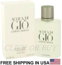 Acqua Di Gio Cologne by Giorgio Armani,3.4 oz/100 ml Eau De Toilette Spray Men's - $92.06