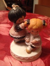 1984 Enesco 2 Girls Figurine #60429 The Poppy Seed Collection Rare Retired New - $14.99